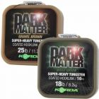 Korda Dark Matter Super Heavy Tungsten Coated Braid Braided Hooklink - All sizes