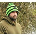 Korda 'Nanny Pat' NP Beanie Hat Green Black Logo Knitted Carp Fishing Clothing