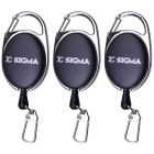 3 Pack of Shakespeare Sigma Zinger Tool Clip Recoil Ring For Forceps Fly Fishing