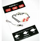Leeda Flattie Rig 2 x20 20lb hook 60lb Rig - 5 Pack