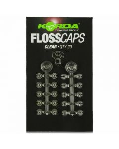Korda Floss Caps Bait Tie Stops Clear Carp Fishing Rig Accessory