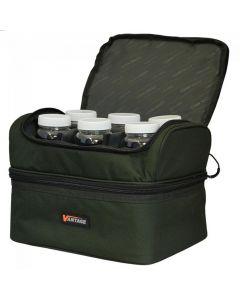 Chub Fishing Vantage Pop Up & Bait Bag with 6 Hook Bait Pots, Insulated Bottom