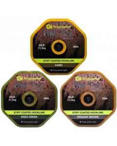 Ridge Monkey RM-Tec Stiff Coated Braid Hooklink 20m Ridgemonkey - All Models