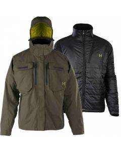 Hodgman Aesis 3 in 1 Waterproof / Windproof Shedding Rain Fly Wading Jacket