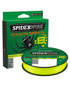 Spiderwire Stealth Smooth 8 Hi-Vis Yellow Braided 300m All Sizes Fishing Line