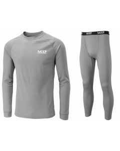 Map Base Grey Layer Top & Trouser Bottom Coarse Fishing Under Armor All Sizes