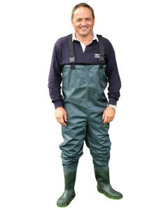 Shakespeare Sigma Nylon Chest Wader Cleated Sole Fly Fishing Wader - All Sizes