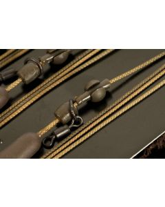 Korda Kable New Ready Tied Leadcore Leaders - Ring Swivel, Heli & Lead Clip 1m
