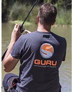 Guru Brush Logo Heather Charcoal Coarse Carp Match Fishing Tee - All Sizes