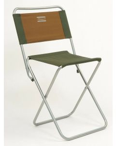 Shakespeare Folding Strong Canvas Fishing Chair with Back Rest