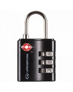LIFEVENTURE SECURITY TSA COMBI LOCK 3 DIAL COMBINATION (58X30X15MM)