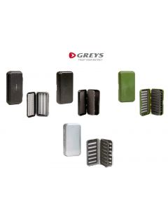 Greys GS Fishing Fly Tackle Boxes, Flat Foam, Slotted & Waterproof Fly Box