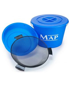 Map New 25L Ground Bait Match Fishing Bucket