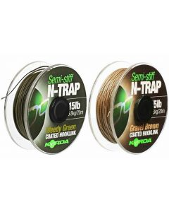 Korda N-Trap Semi Stiff Coated Carp Fishing Gravel Brown Braid Hooklink