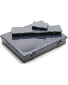 Leeda Complete ABS Plastic Tackle Box with Rig Board Coarse Fishing