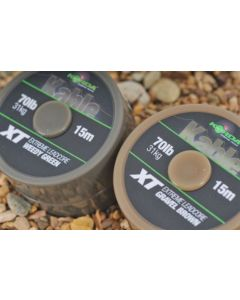 Korda Kable XT Extreme Leadcore 70lb 15m Green Brown Coarse Carp Fishing Line