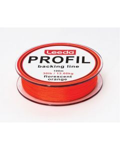 Leeda Profil Backing Line Fluo Orange 100m Spools 30lb Fly Fishing Backing Line