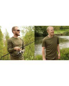 Korda Kool Quick Dry Tee / Short & Long Sleeve Match Fishing T-Shirt - All Sizes