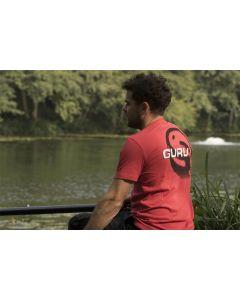 Guru Brush Logo Red T-Shirt Coarse Carp Match Fishing Tee - All Sizes