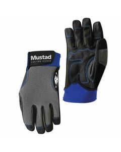 Mustad Ultra Grip Landing / Casting Breathable Black Fishing Glove (Pair)