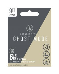 Wychwood Connect Series Ghost Mode Tapered Leader Pack of 3 - 9ft & 12ft 4-8lb