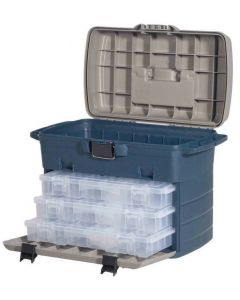 Leeda Large Saltwater & Freshwater Tackle Box System + 3 Lure Cases Fishing Box