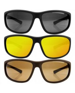 Ridgemonkey Pola Flex Polarised Wrap Style Sunglasses + Hard Case - All Colours