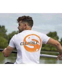 Guru Offset Logo Coarse Carp Match White Fishing T Shirt – All Sizes