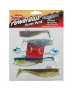 PowerBait Pro Pack Seabass 15g(5 Pack) - Fishing Kit