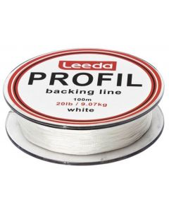 Leeda Profil Backing Line White 100m Spools 20lb Fly Fishing Backing Line