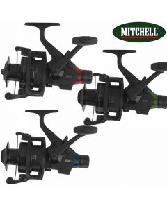 3 X Mitchell Avocast 6500 FS Freespool RTE Black Edition Bite Alarm Carp Reel